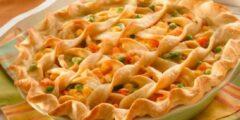 طريقة عمل فطائر بالدجاج والخضروات منال العالم